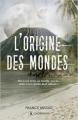 Couverture L'Origine des mondes Editions Publishroom 2016