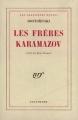 Couverture Les Frères Karamazov Editions Gallimard  (Blanche) 1948