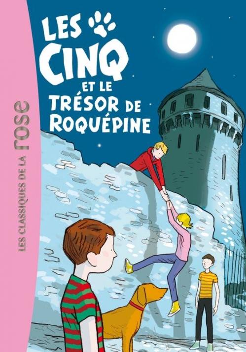 Couverture Les Cinq et le trésor de Roquepine