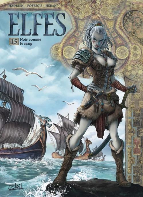 Couverture Elfes, tome 15 : Noir comme le sang