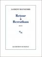 Couverture Retour à Berratham Editions de Minuit 2015