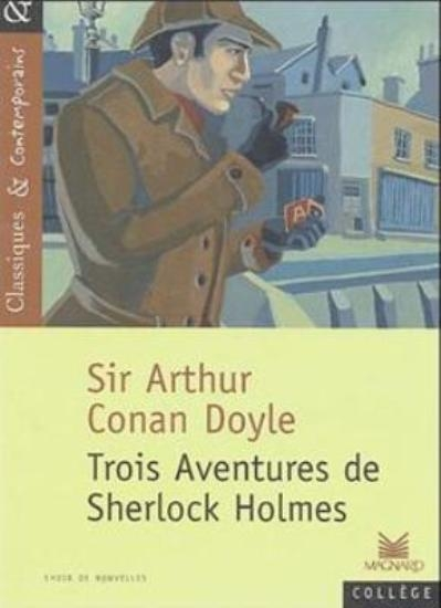 Couverture Trois aventures de Sherlock Holmes