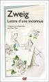 Couverture Lettre d'une inconnue Editions Garnier Flammarion 2013