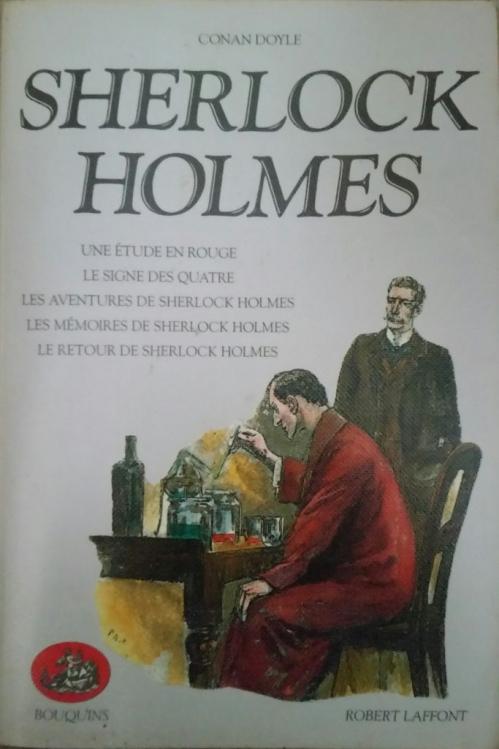 Couverture Sherlock Holmes : Une étude en rouge, Le signe des quatre, Les aventure de Sherlock Holmes, Les mémoires de Sherlock Holmes, Le retour de Sherlock Holmes