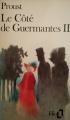 Couverture Le Côté de Guermantes, tome 2 Editions Folio  1988