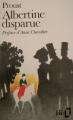 Couverture Albertine disparue Editions Folio  1989
