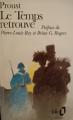 Couverture Le Temps retrouvé Editions Folio  1989