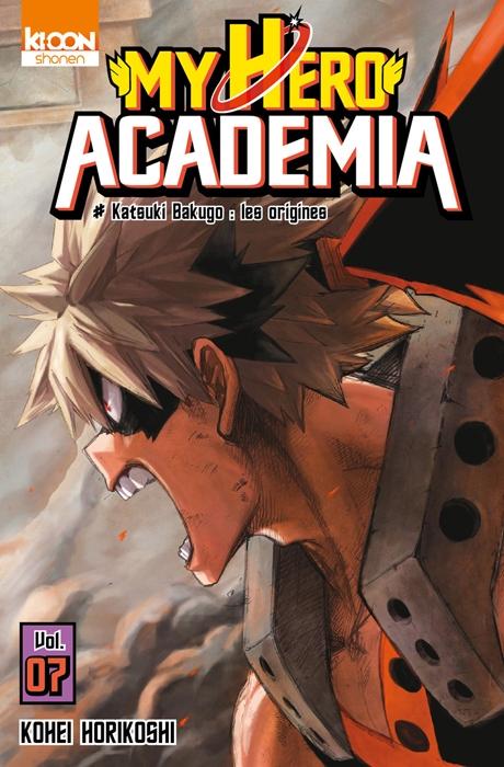 Couverture My Hero Academia, tome 07 : Katsuki Nakugo, les origines