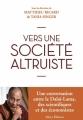 Couverture Vers une société altruiste Editions Allary 2015