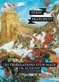 Couverture Les Annales du Disque-Monde, tome 17 : Les Tribulations d'un mage en Aurient Editions L'Atalante (La Dentelle du cygne) 2016
