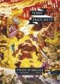 Couverture Les Annales du Disque-Monde, tome 19 : Pieds d'argile Editions L'Atalante (La Dentelle du cygne) 2016