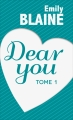 Couverture Dear you, intégrale, tome 1 Editions France Loisirs 2016