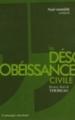 Couverture La désobéissance civile Editions Le passager clandestin 2011