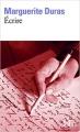 Couverture Écrire Editions Folio  2015