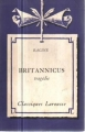 Couverture Britannicus Editions Larousse 1933