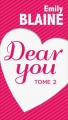 Couverture Dear you, intégrale, tome 2 Editions France Loisirs 2016
