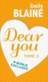 Couverture Dear you, intégrale, tome 3 Editions France Loisirs 2016