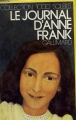 Couverture Le journal d'Anne Frank Editions Gallimard  (1000 soleils) 1950