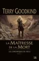Couverture Les chroniques de Nicci, tome 1 : La maîtresse de la mort Editions Bragelonne (Fantasy) 2017
