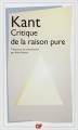 Couverture Critique de la raison pure Editions Flammarion (GF) 2006