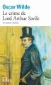 Couverture Le crime de Lord Arthur Savile Editions Folio  1975