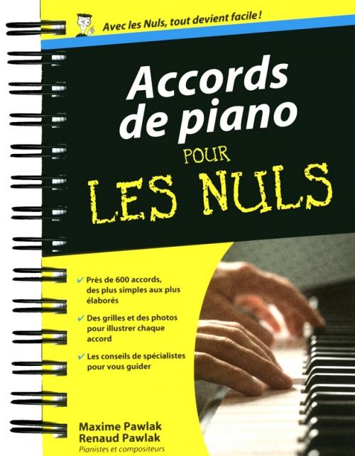 Couverture Accords de piano pour les nuls