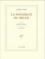 Couverture La prospérité du soleil Editions Gallimard  (Blanche) 2009