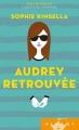 Couverture Audrey retrouvée Editions France Loisirs (Piment) 2016