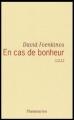 Couverture En cas de bonheur Editions Flammarion 2005
