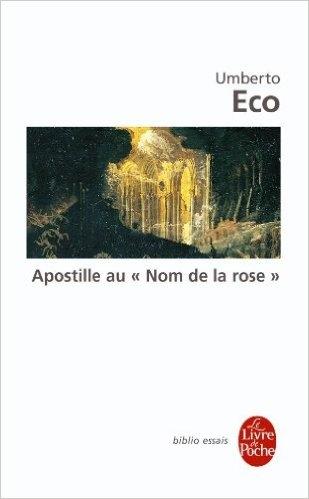 """Couverture Apostille au """"Nom de la rose"""""""