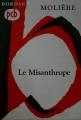 Couverture Le misanthrope / Le misanthrope ou l'atrabilaire amoureux Editions Bordas (Petits Classiques) 1970