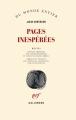 Couverture Pages inespérées Editions Gallimard  (Du monde entier) 2014