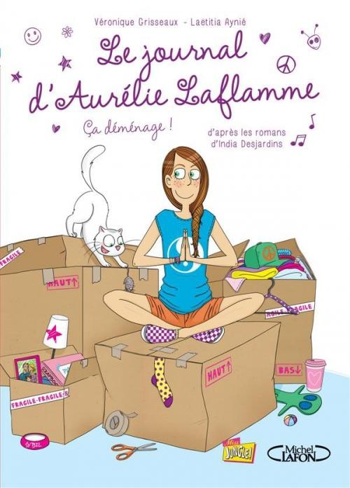 Couverture Le journal d'Aurélie Laflamme (BD), tome 3 : Ça déménage !