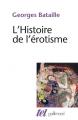 Couverture L'histoire de l'érotisme Editions Gallimard  (Tel) 2015