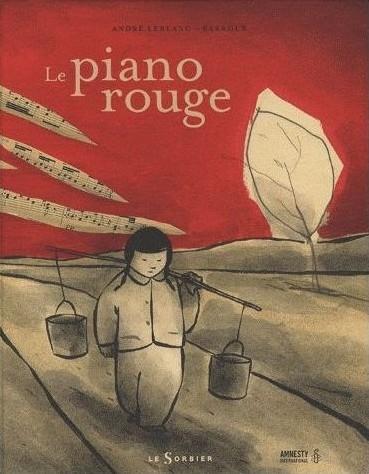 Couverture Le piano rouge