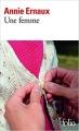 Couverture Une femme Editions Folio  2014