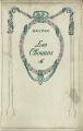 Couverture Les chouans Editions Nelson 1914