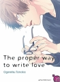 Couverture The proper way to write love Editions Taifu comics (Yaoï) 2017