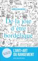 Couverture De la joie d'être bordélique Editions Mazarine 2017