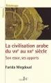 Couverture La civilisation arabe du VIIIème siècle au XIIIème siécle Editions Les bons caractères 2013