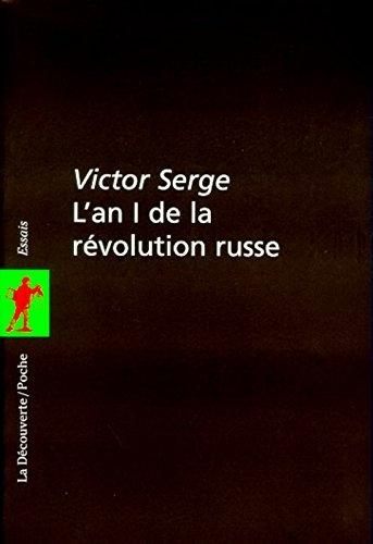 Couverture L'an I de la révolution russe
