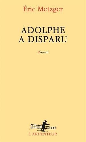 Couverture Adolphe a disparu