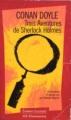 Couverture Trois aventures de Sherlock Holmes Editions Garnier Flammarion 1996