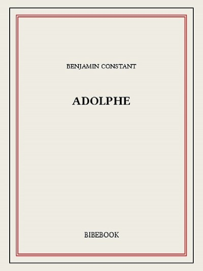 Couverture Adolphe