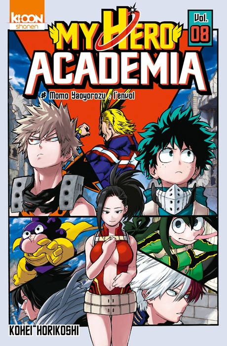 Couverture My Hero Academia, tome 08 : Momo Yaoyorozu, l'envol