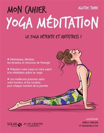 Couverture Mon Cahier : Yoga méditation