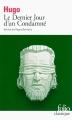 Couverture Le Dernier Jour d'un condamné Editions Folio  (Classique) 2017