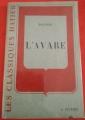 Couverture L'Avare Editions Hatier 1958