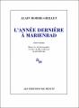 Couverture L'année dernière à Marienbad Editions de Minuit 2002