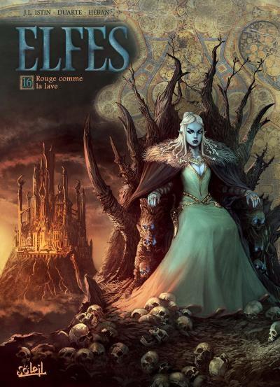 Couverture Elfes, tome 16 : Rouge comme la lave